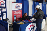 Terry Stead of Tecnico Volunteers at a Career Day Event
