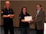 Nominator Richard Betts, Annual Safety Suggestion Award Winner Erica Ray, and Tom Binner